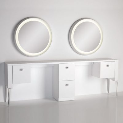 gamma bross france polaris salon emotion polaris 2 2 coiffeuse murale 2 places miroir retroeclaire 01 400x400 - Polaris 2.2