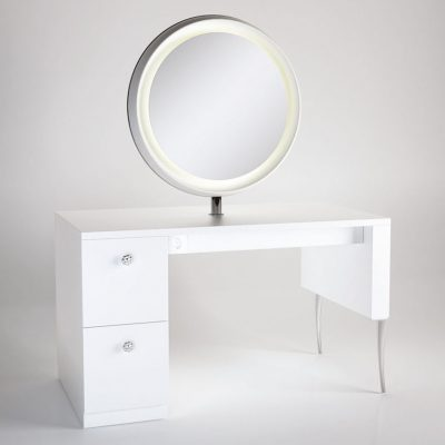 gamma bross france polaris salon emotion polaris 2 coiffeuse centrale 2 places miroir rond retroeclaire 01 400x400 - Polaris 2