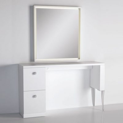 gamma bross france polaris salon emotion polaris carre 1 coiffeuse murale 1 place miroir retroeclaire 01 400x400 - Polaris Carré 1