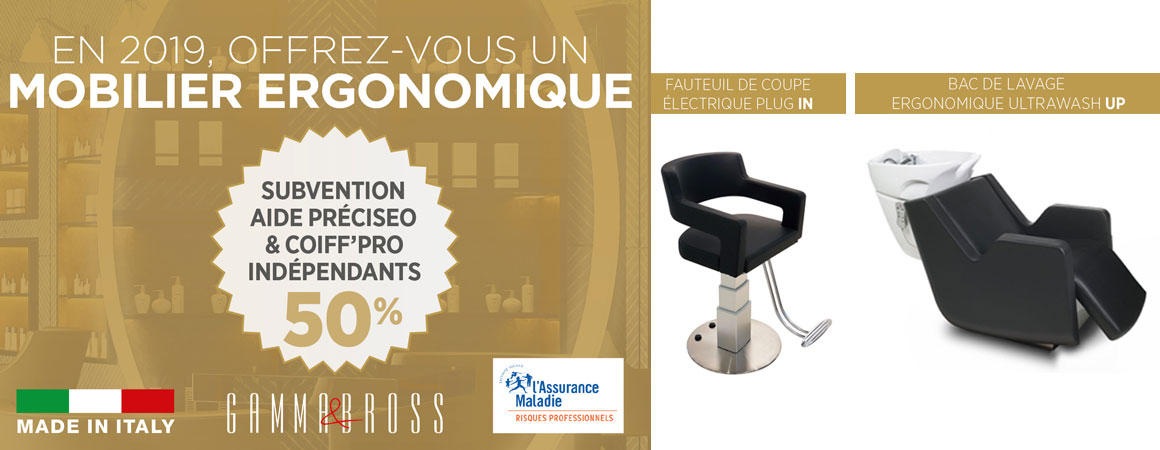 gamma bross france plug in ultrawash up carsat une - Mobilier de coiffure ergonomique 2019 : Aides financières de 50% grâce à l' Aide Préciséo CARSAT et Coiff Pro Indépendants